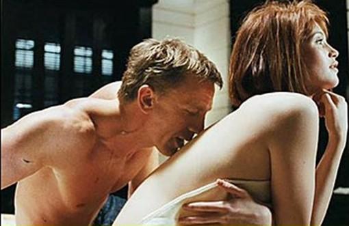 007 kisses Gemma Aherton