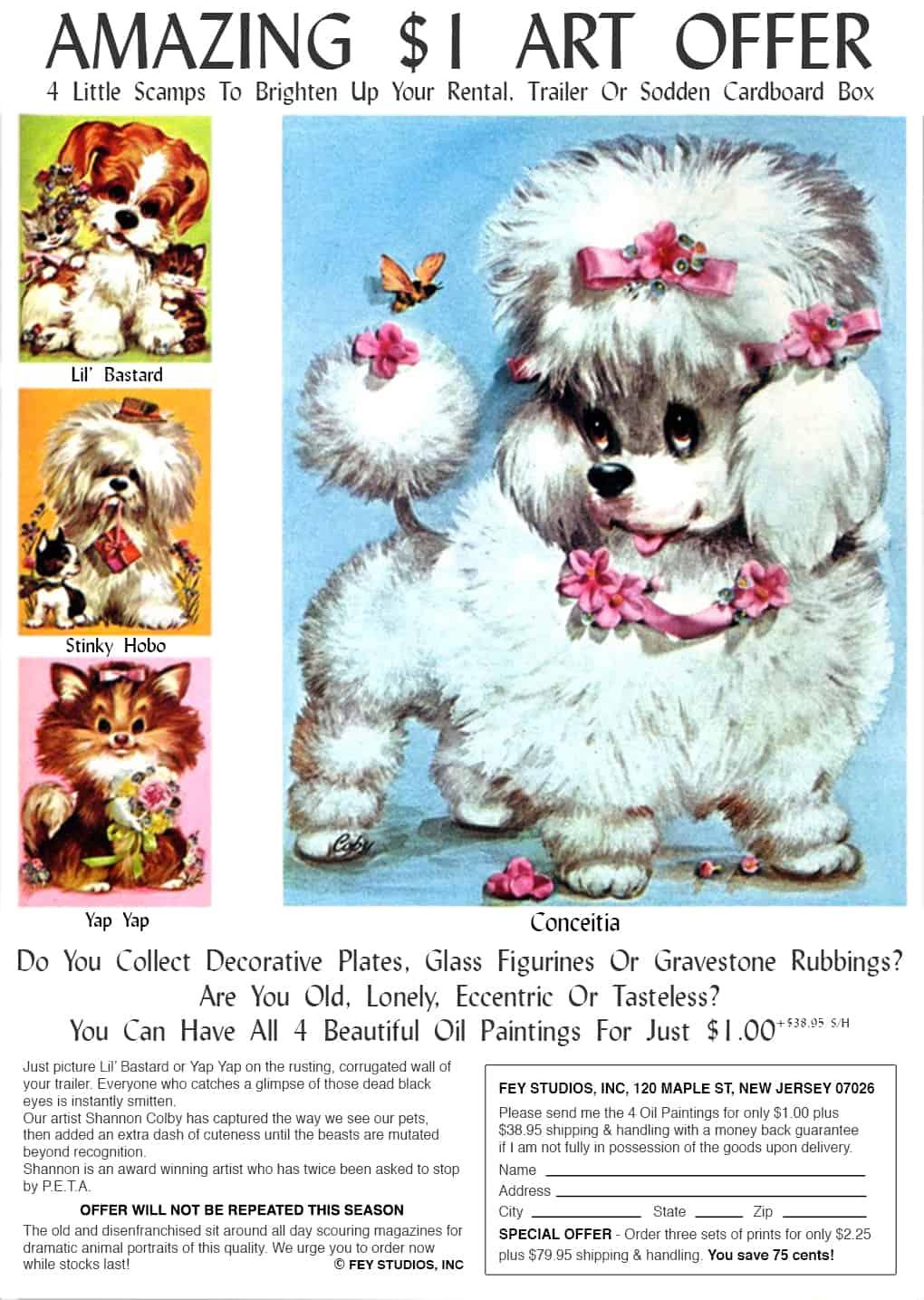 Amazing $1 Art Offer Advert