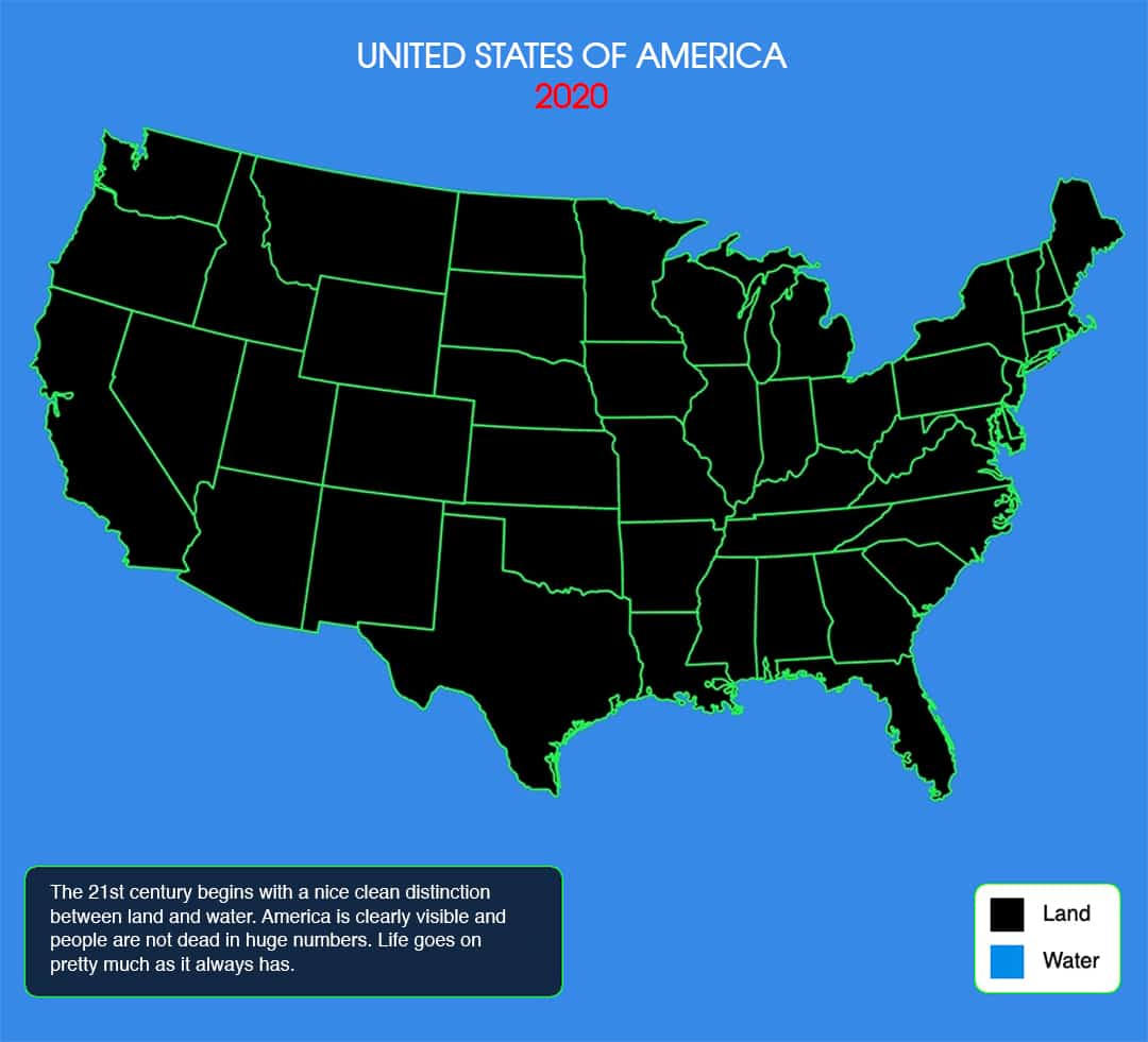 USA Map 2020 - Current Climate