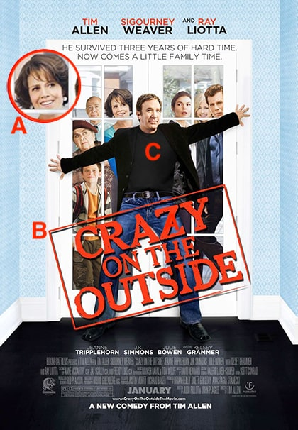 Crazy on the Outside Poster Review