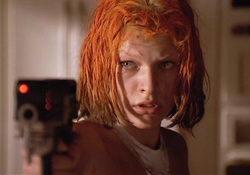 Leeloo with Blaster - The Fifth Element